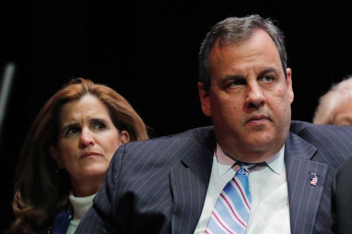 Former New Jersey Gov. Chris Christie (seen here with his wife, Mary Pat, on the left) is writing a book about his polit