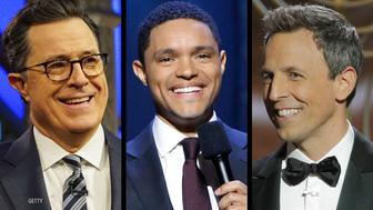 Late-night hosts ripped Trump for backpedaling after his Russia press conference