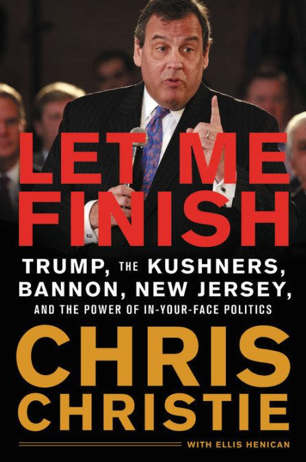 Christie's book, <i>Let Me Finish</i>, is scheduled for release in January 2019.