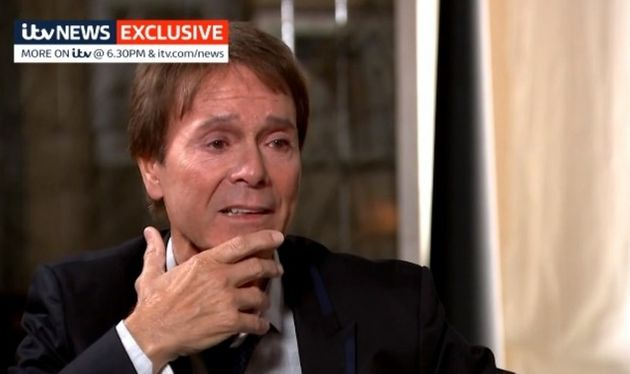 Sir Cliff Richard interviewed by ITV News.