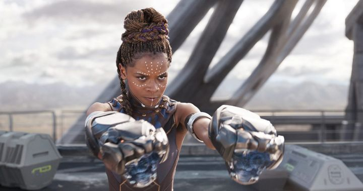 Letitia Wright as Shuri.