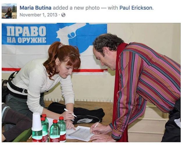 Butina and Erickson in a photo she posted to Facebook in 2013.