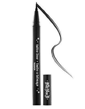 "Yang had nothing but good things to say about Kat Von D's Tattoo liner. <br><br>""Simply the best eyeliner,"" she said. ""T"