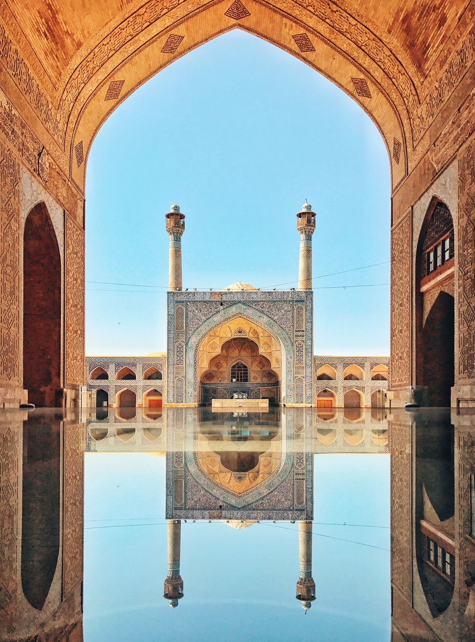"Second Place<br>""Jameh Mosque of Isfahan""<br> Isfahan, Iran<br>Shot on iPhone 7"
