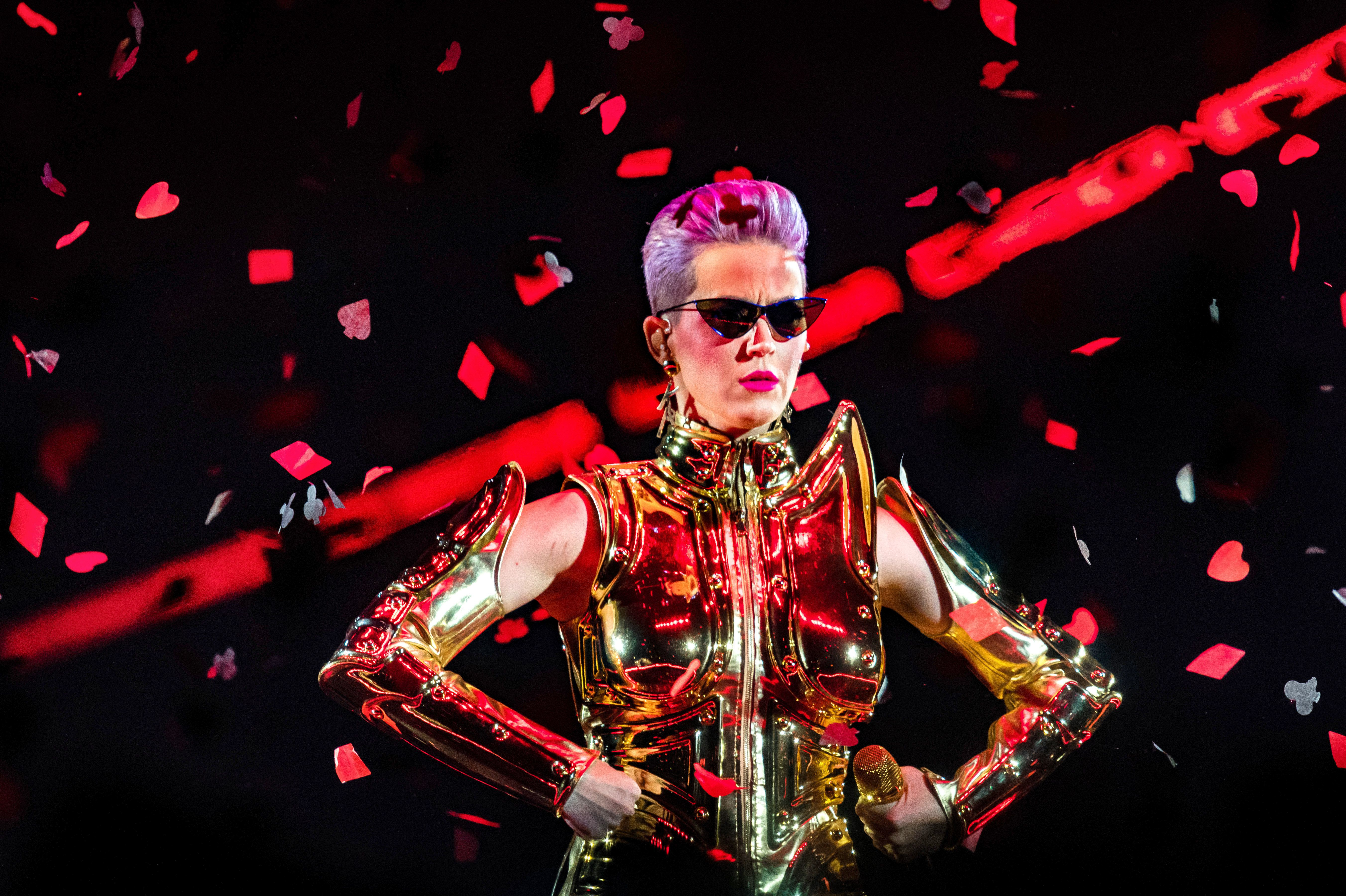 Katy Perry performs on stage as part of Witness: The Tour, at Ziggo Dome, on May 26 in Amsterdam, Netherlands.