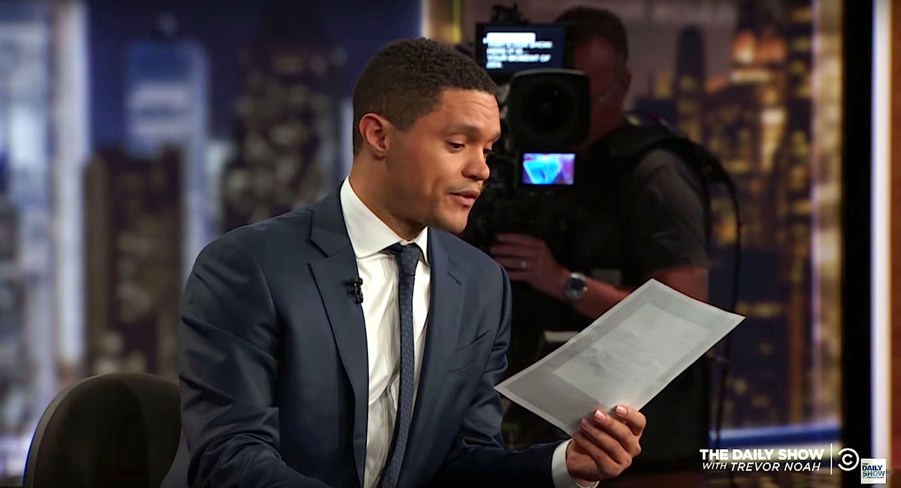 Trevor Noah of The Daily Show got a letter from the French ambassador