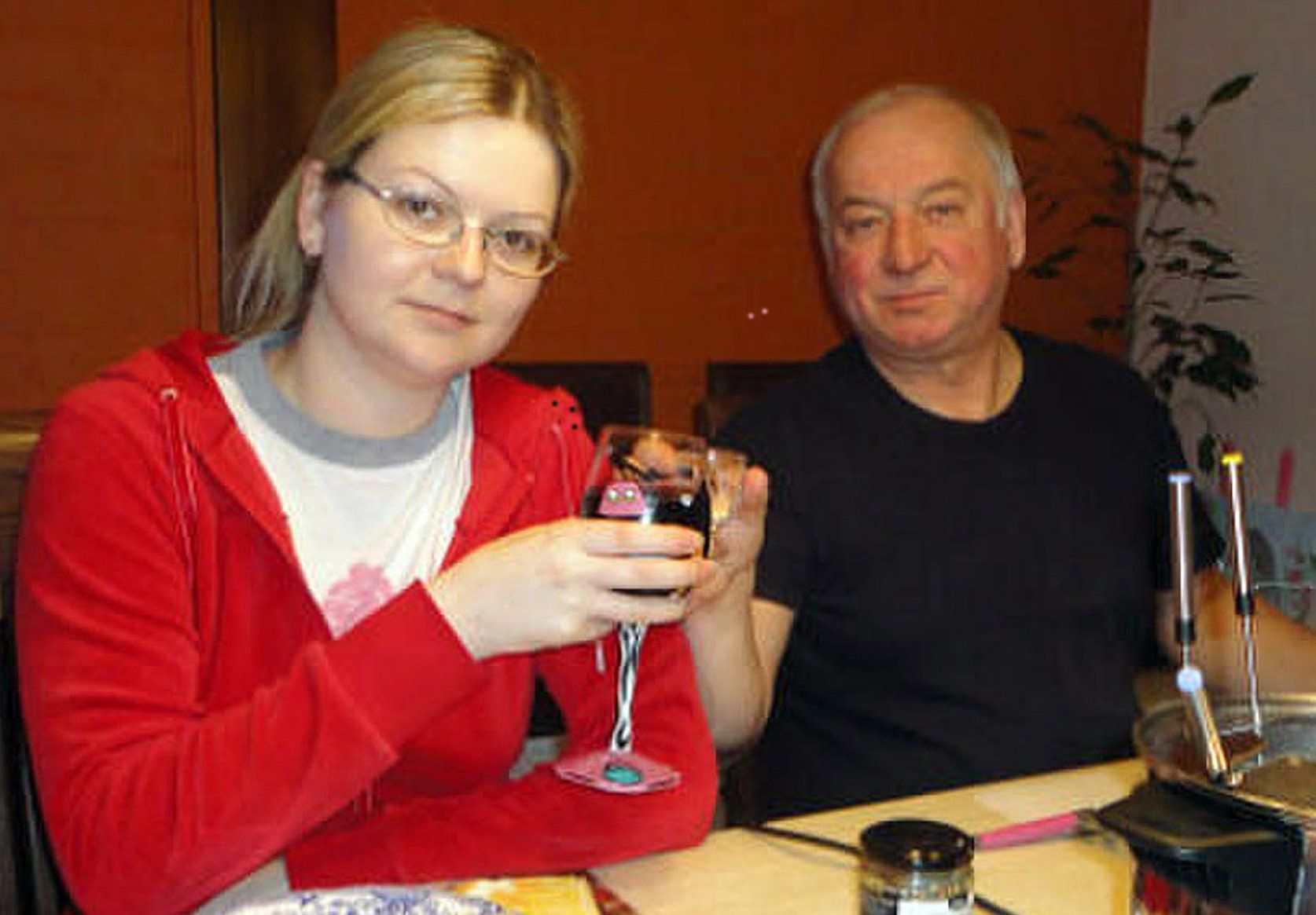 Sergei Skripal and his daughter,