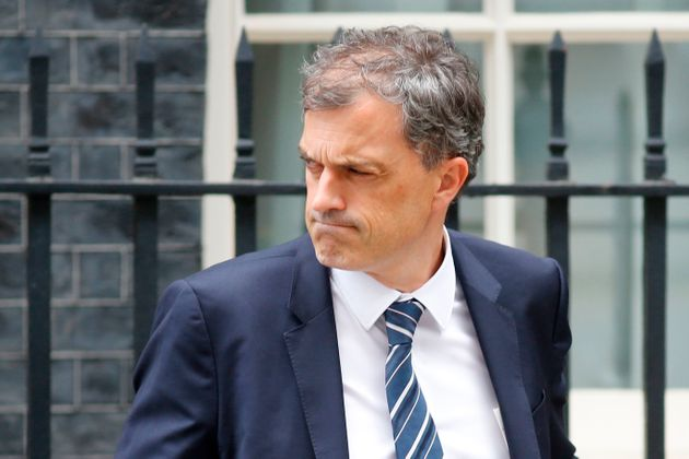 Conservative Party Chief Whip Julian Smith in Downing Street in London on July 9,