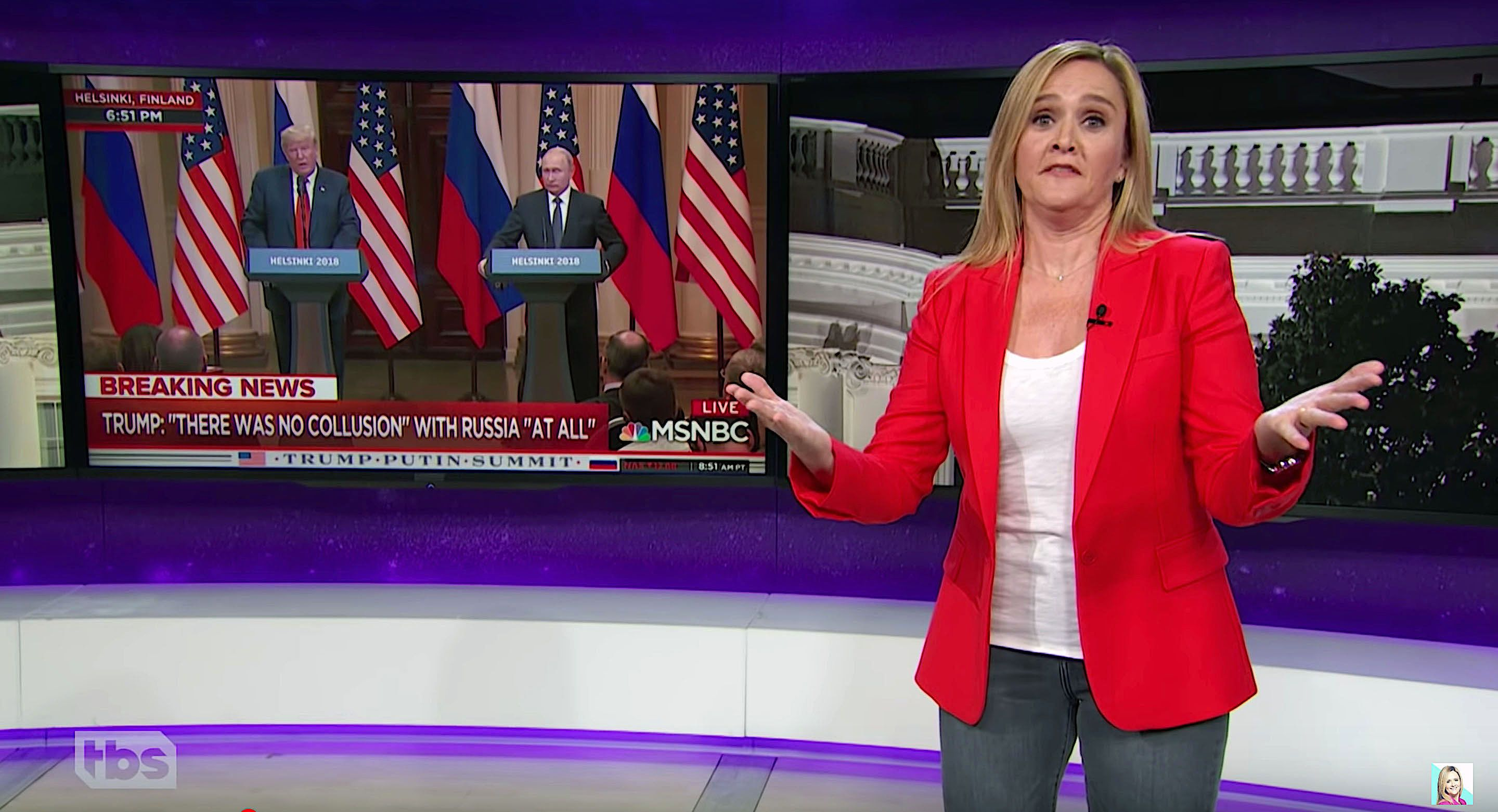 Samantha Bee of Full Frontal says the surprising thing about the Helsinki summit was not President Donald Trump