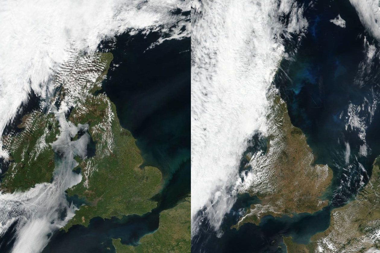 Incredible Satellite Images Reveal What The Heatwave Has Done To