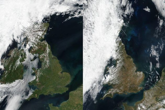 UK Weather: Incredible Satellite Images Reveal What The Heatwave Has Done To