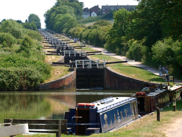 The Caen Hill Locks on another stretch of the Kennet and Avon