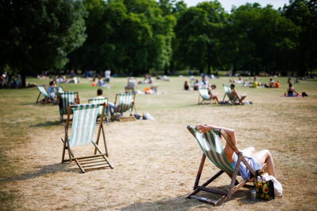 London's Green Park turns brown during the driest start to summer the UK has experience in 57