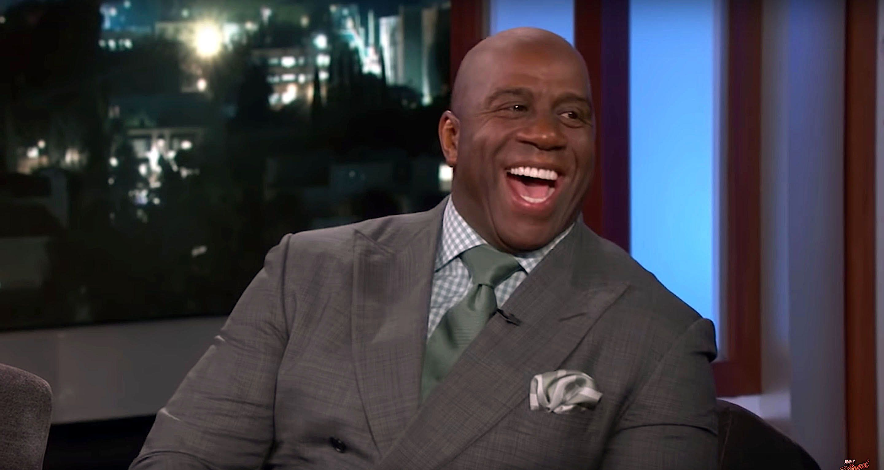 Magic Johnson told Jimmy Kimmel about signing LeBron James to the Lakers