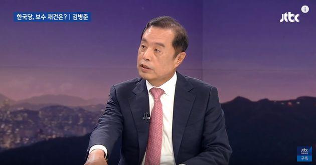 김병준 자유한국당 비상대책위원장이 '골프 접대 의혹'에 대해 재차