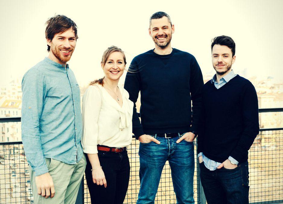 Die vier Gründer von Share von links nach rechts: Tobias Reiner, Iris Braun, Sebastian Stricker...