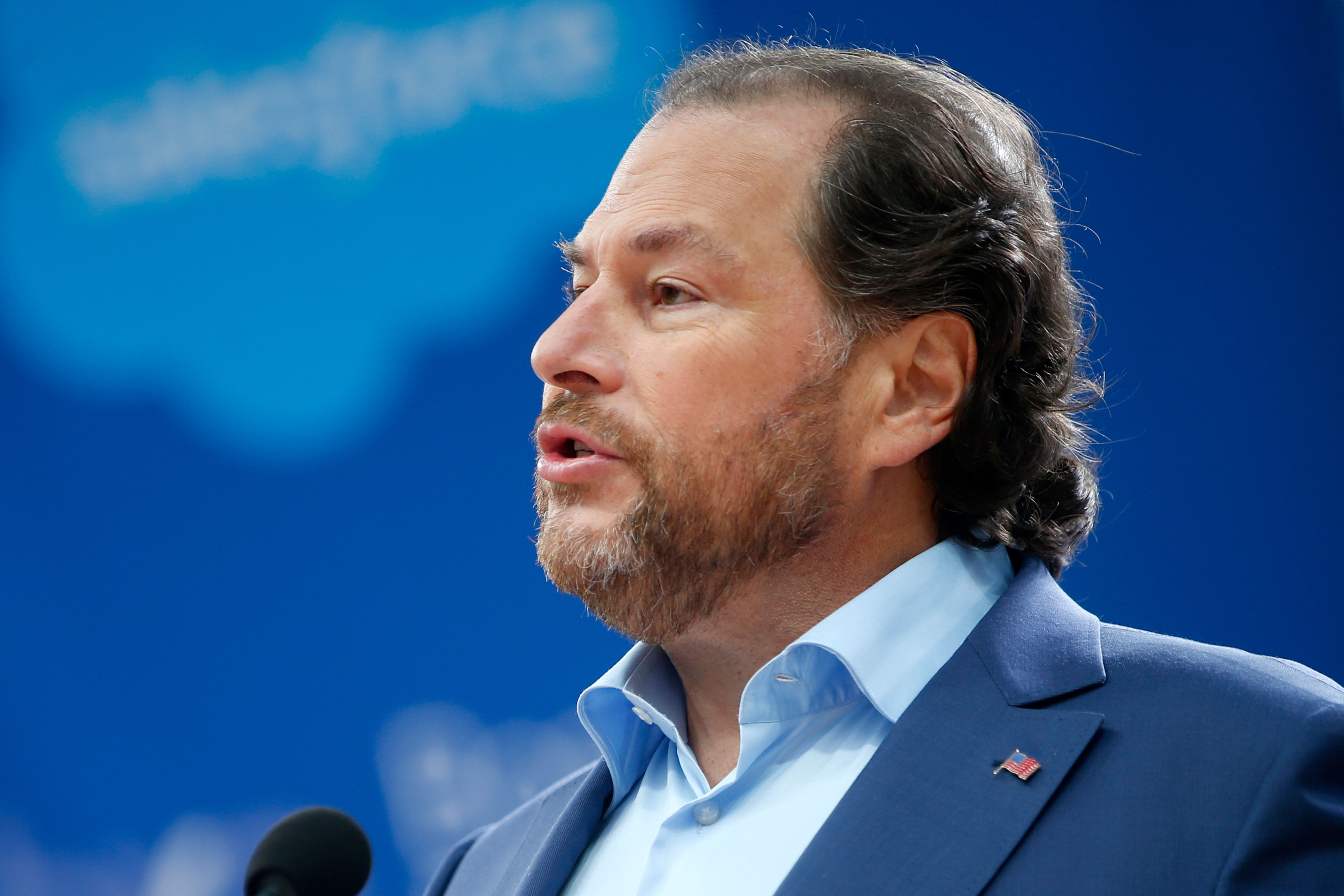 "Salesforce founder and CEO Marc Benioff has called family separations at the border ""immoral."""