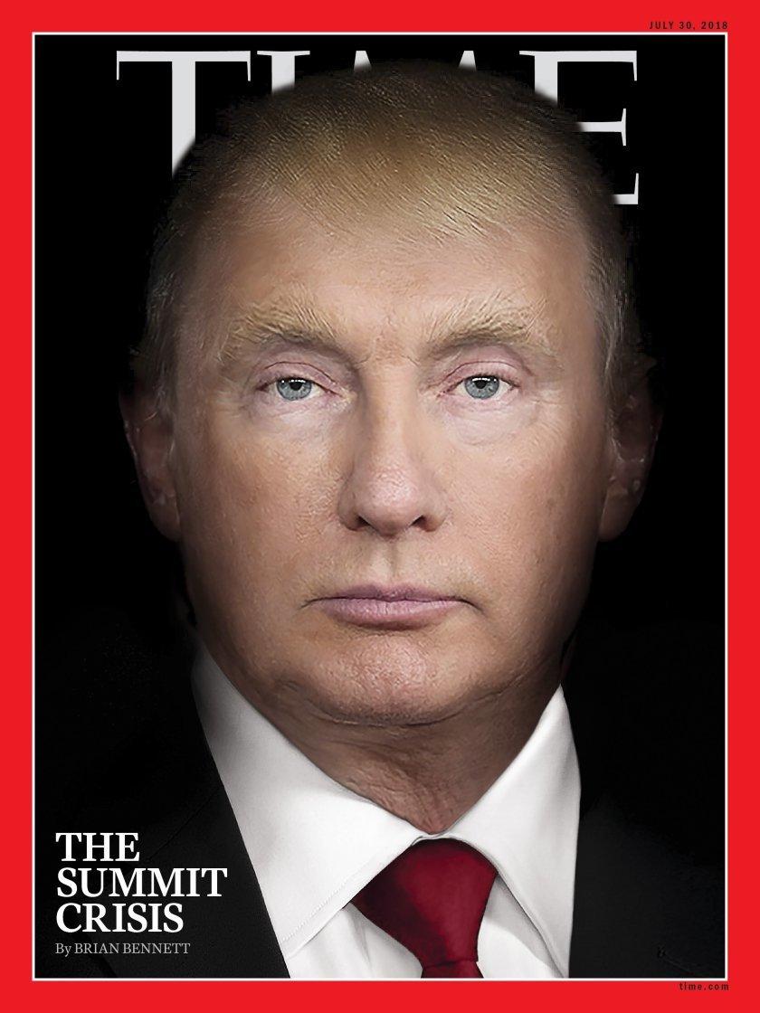 Ο Τραμπ και ο Πούτιν έγιναν ένα πρόσωπο στο εξώφυλλο του