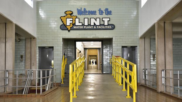 The interior of the Flint water plant is seen on September 14, 2016 in Flint, Michigan. / AFP / MANDEL NGAN        (Photo credit should read MANDEL NGAN/AFP/Getty Images)