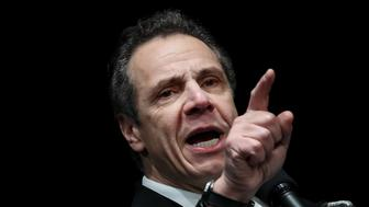 NEW YORK, NY - FEBRUARY 21: New York Governor Andrew Cuomo speaks at a healthcare union rally at the Theater at Madison Square Garden, February 21, 2018 in New York City. The rally was organized by 1199SEIU United Healthcare Workers East, the largest healthcare union in the United States. (Photo by Drew Angerer/Getty Images)