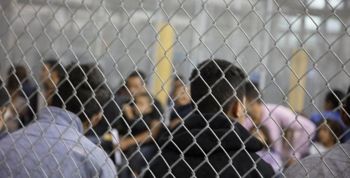 A view of inside a U.S. Customs and Border Protection detention facility in Rio Grande City, Texas, last month.