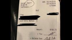 Kellner findet Hassbotschaft auf Rechnung – seine Reaktion begeistert