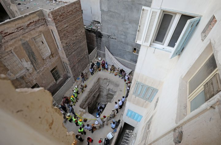The tomb was found beneath a residential area in the city.