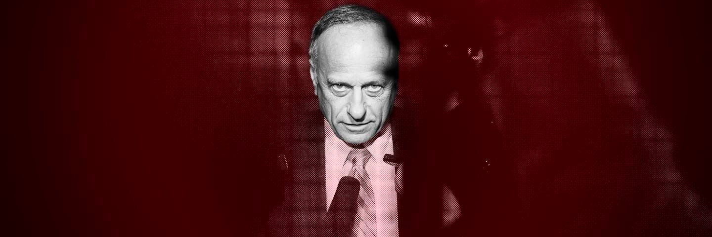 UNITED STATES - JUNE 11: Rep. Steve King, R-Iowa, is questioned by reporters about the primary lose of House Majority Leader Eric Cantor, R-Va., before a Republican Study Committee meeting in the Capitol, June 11, 2014. (Photo By Tom Williams/CQ Roll Call)