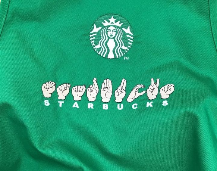 Starbucks in ASL finger spelling.