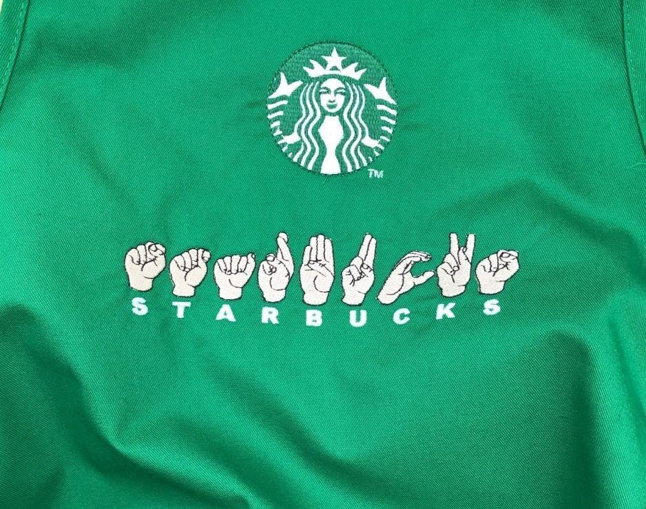Starbucks in ASL finger spelling.