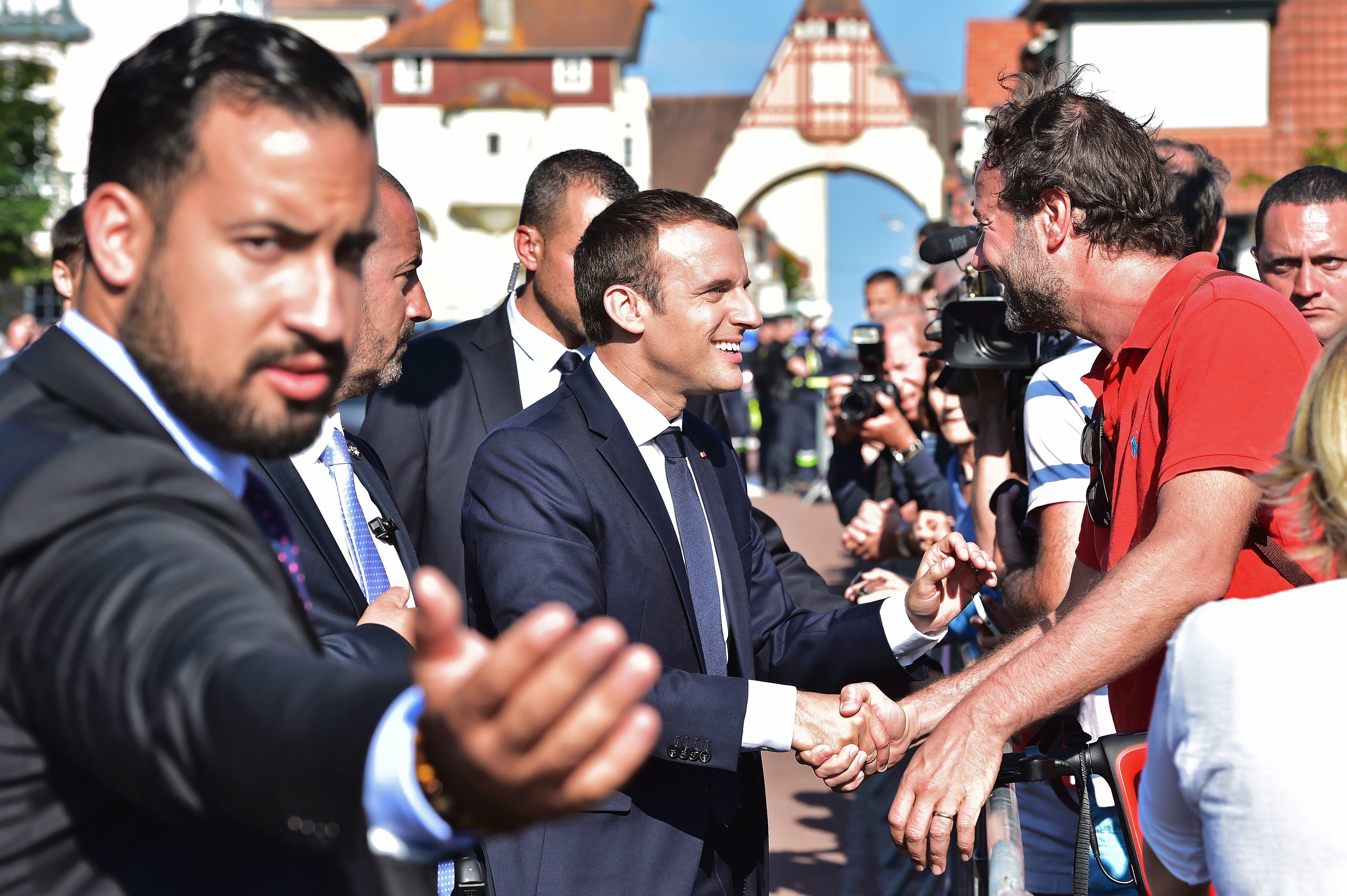 Macron Bodyguard Beats Protester In Paris