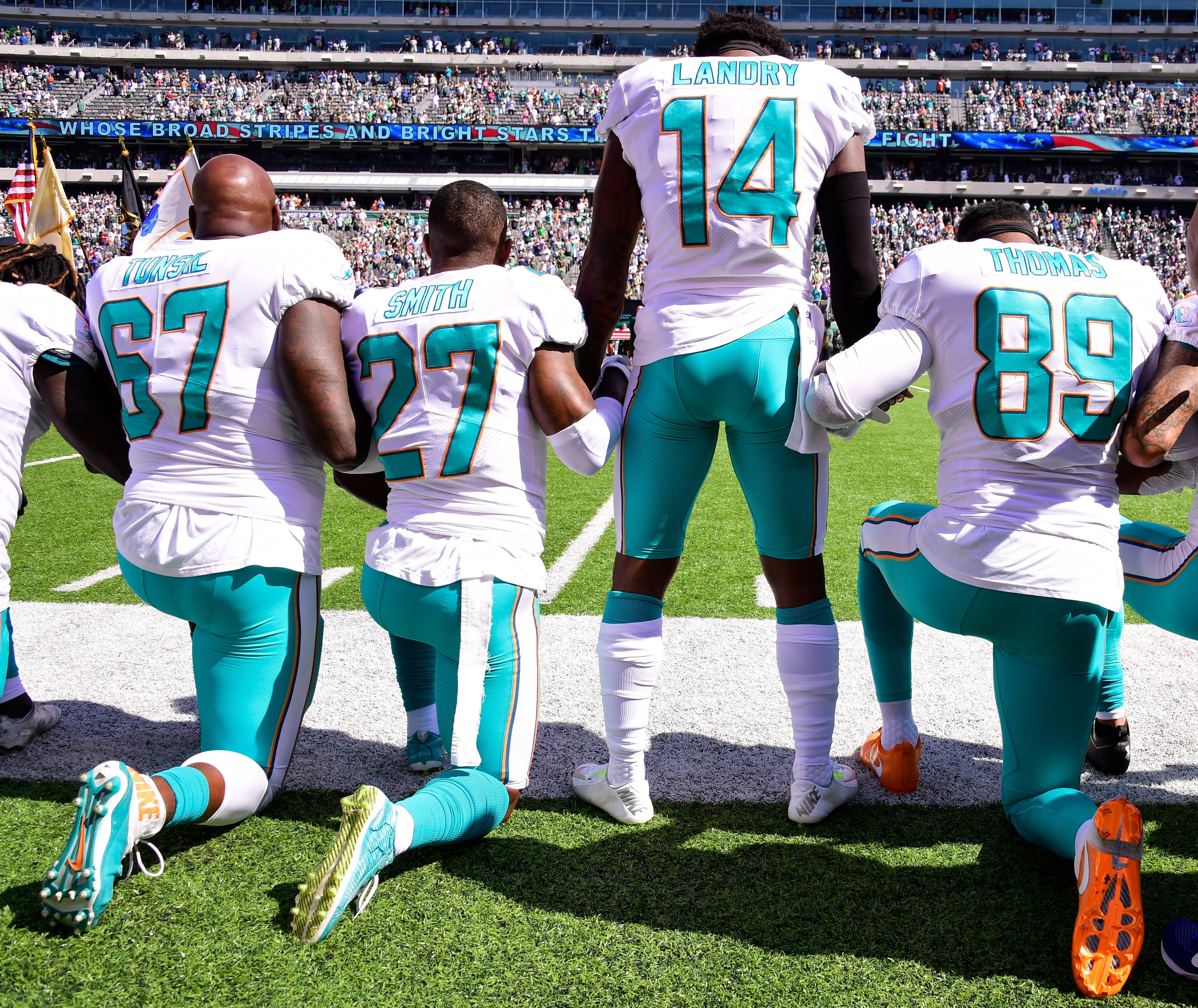 Miami Dolphins May Fine Or Suspend Players Who Kneel For