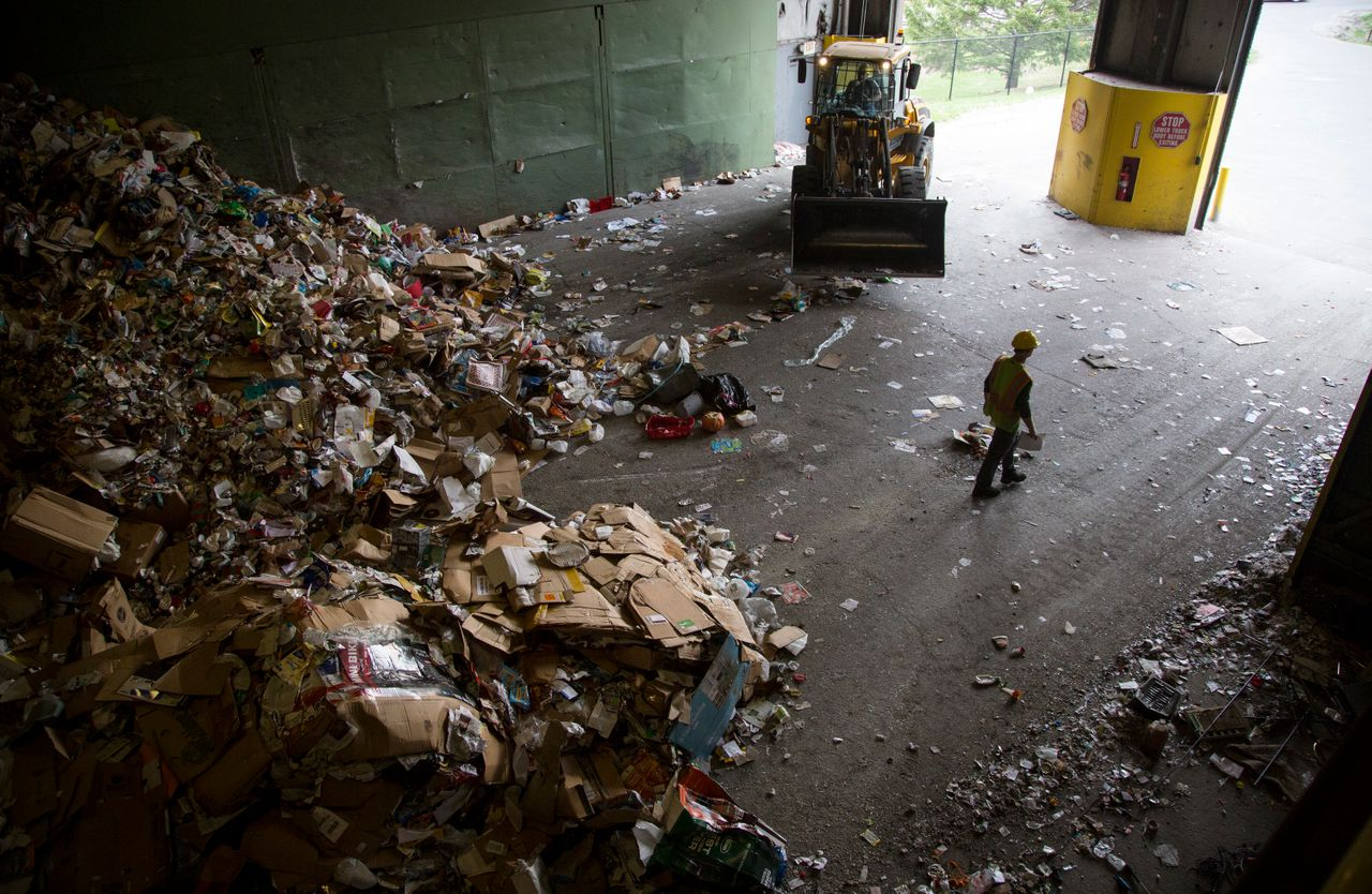 Ecomaine says it's been implementing new policies to eliminate contaminated recycling from its waste stream in an effort to reduce losses in the global recycled-commodity market.