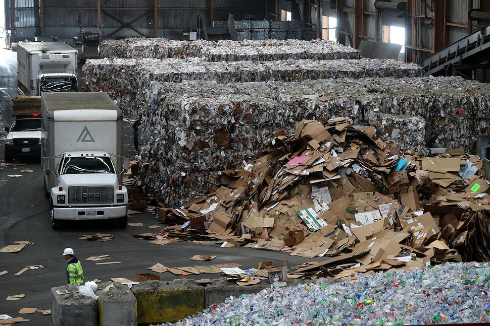 "Recology, a curbside recycler in San Francisco, admits it's been diverting some materials to landfills. ""Ther"