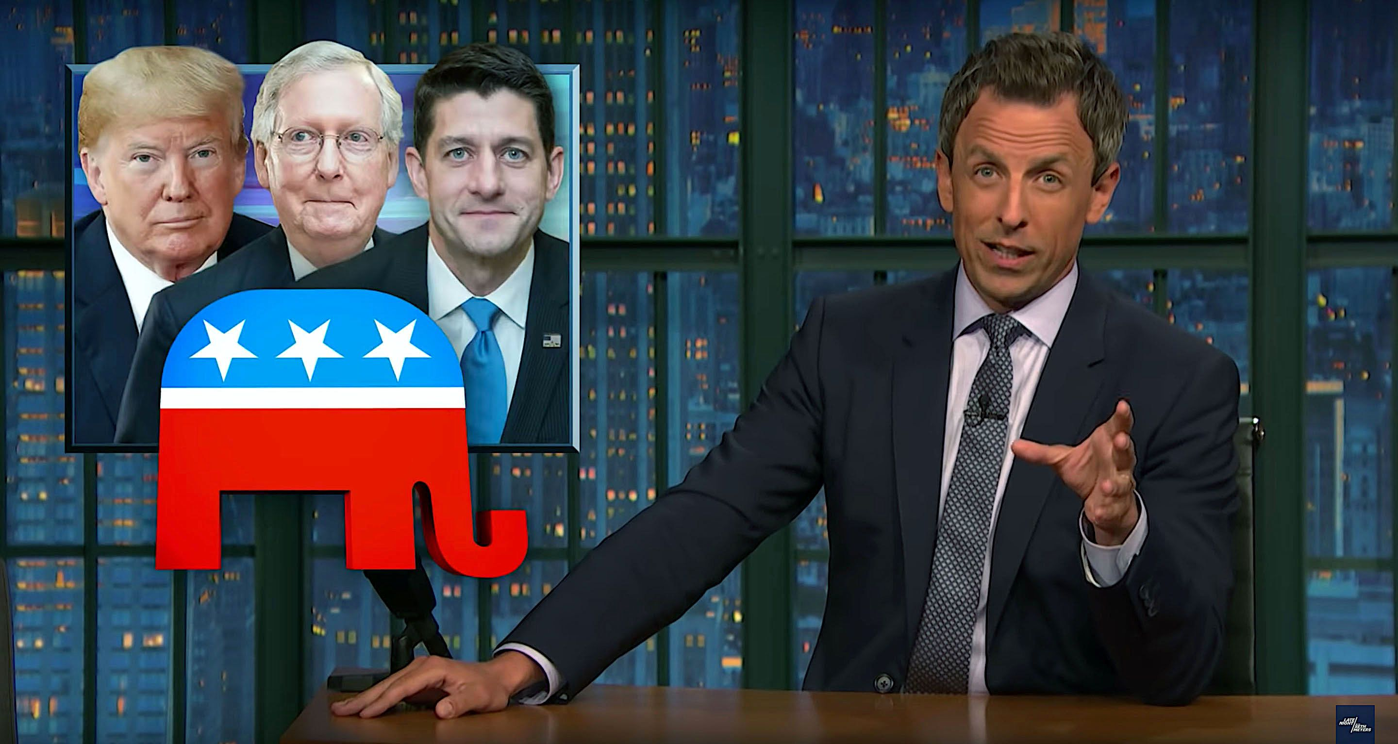 Seth Meyers of Late Night says Republicans are refusing to hold President Donald Trump accountable