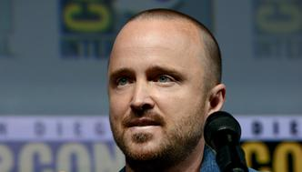SAN DIEGO, CA - JULY 19:  Aaron Paul speaks onstage during the 'Breaking Bad' 10th Anniversary Celebration during Comic-Con International 2018 at San Diego Convention Center on July 19, 2018 in San Diego, California.  (Photo by Albert L. Ortega/Getty Images)