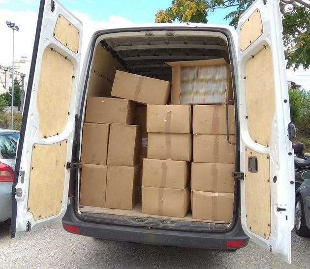 Θεσσαλονίκη: Είχαν μετατρέψει φορτηγό σε αποθήκη λαθραίων