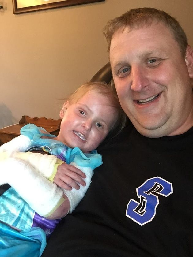 Brent Gehring with his daughter