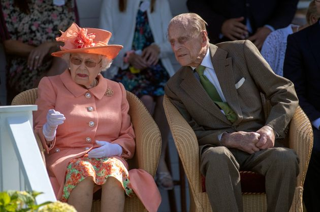 The Queen and the Duke of Edinburgh at the Guards Polo Club, Windsor Great Park in June