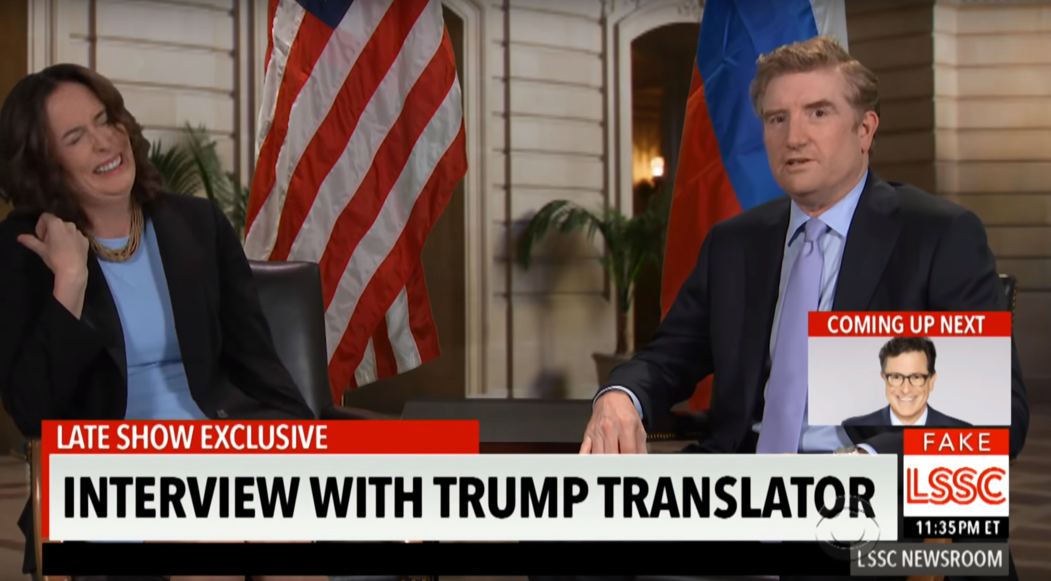 Colbert Nabs The First Interview With Trump's Russian Translator