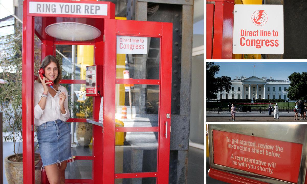 Aus dieser Telefonzelle in New York soll man das Weiße Haus sprechen können – wir haben