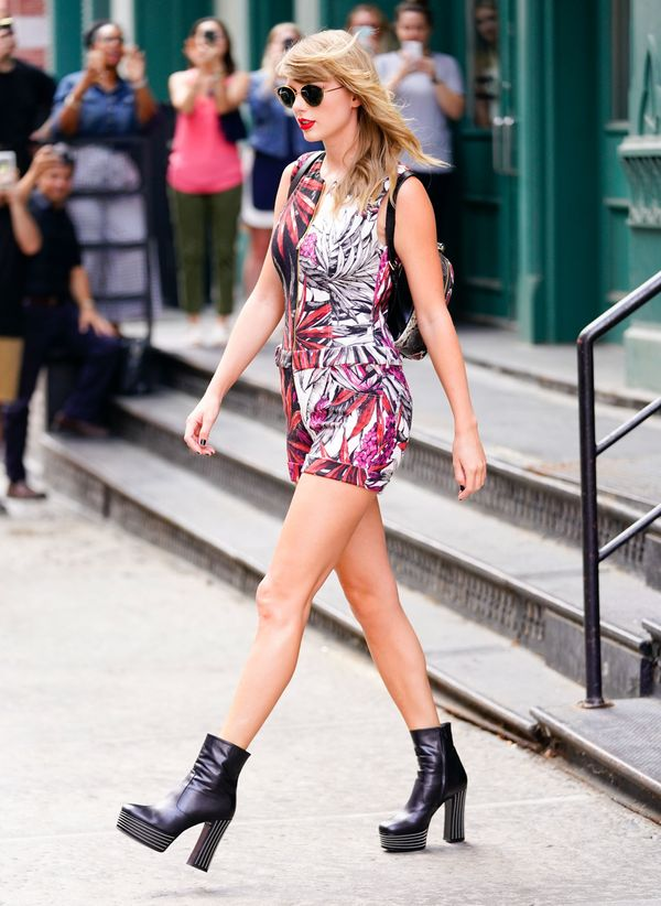 Swift seen out and about on July 17, 2018 in New York City.