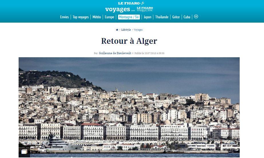"""Le Figaro Magazine revisite Alger, vieille cité méditerranéenne """"à la mémoire"""