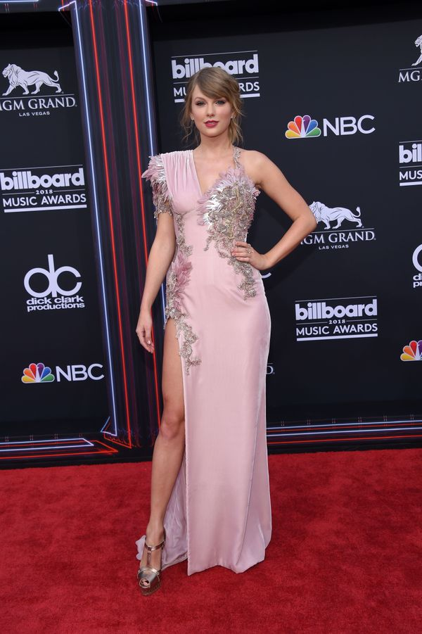 On the red carpet at the 2018 Billboard Music Awards 2018 at the MGM Grand Resort International on May 20, 2018, in Las Vegas