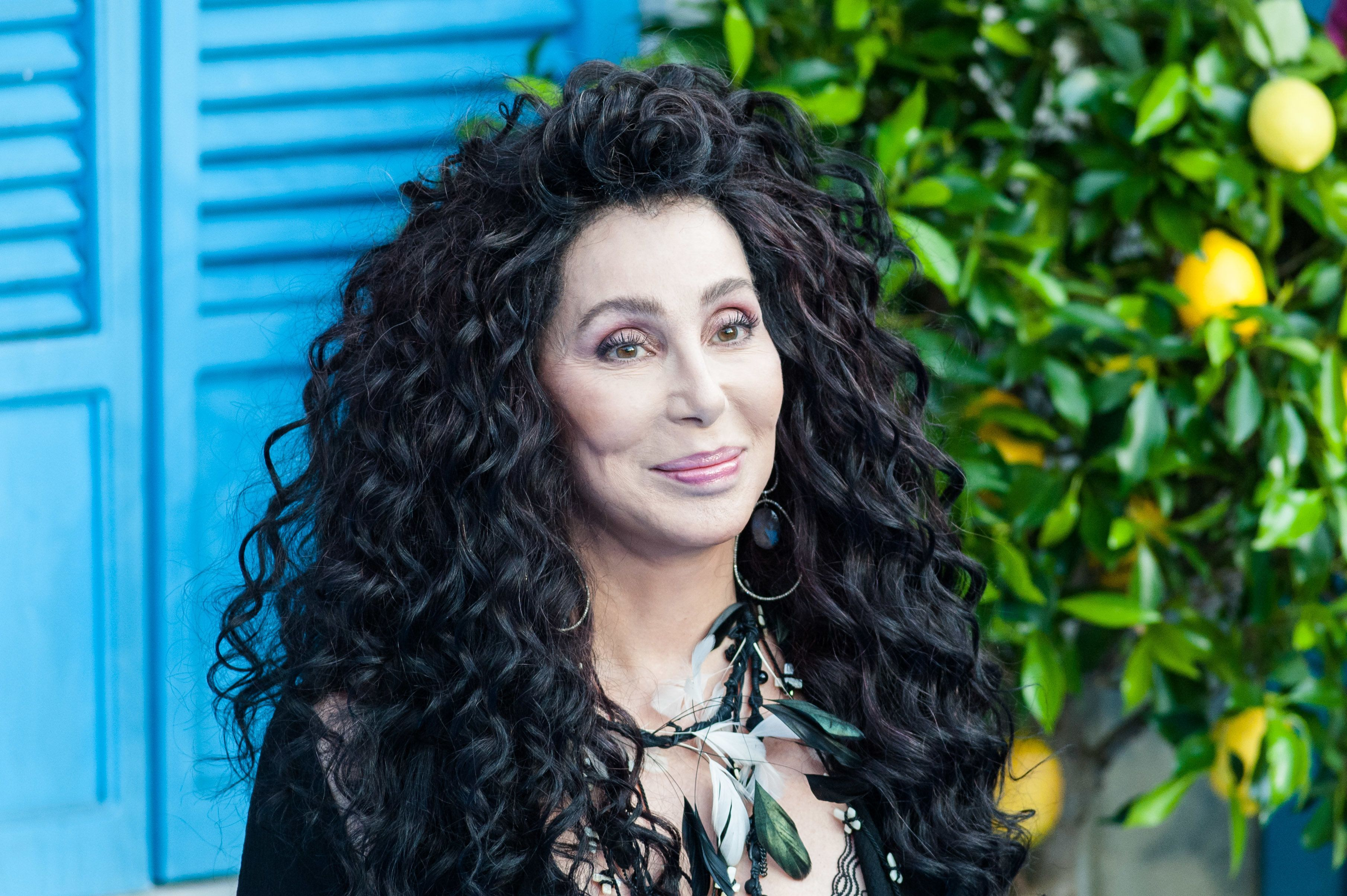 LONDON, UNITED KINGDOM - JULY 16: Cher arrives for the world film premiere of 'Mamma Mia! Here We Go Again' at Eventim Apollo, Hammersmith in London. July 16, 2018 in London, United Kingdom. (Photo credit should read Wiktor Szymanowicz / Barcroft Media via Getty Images)