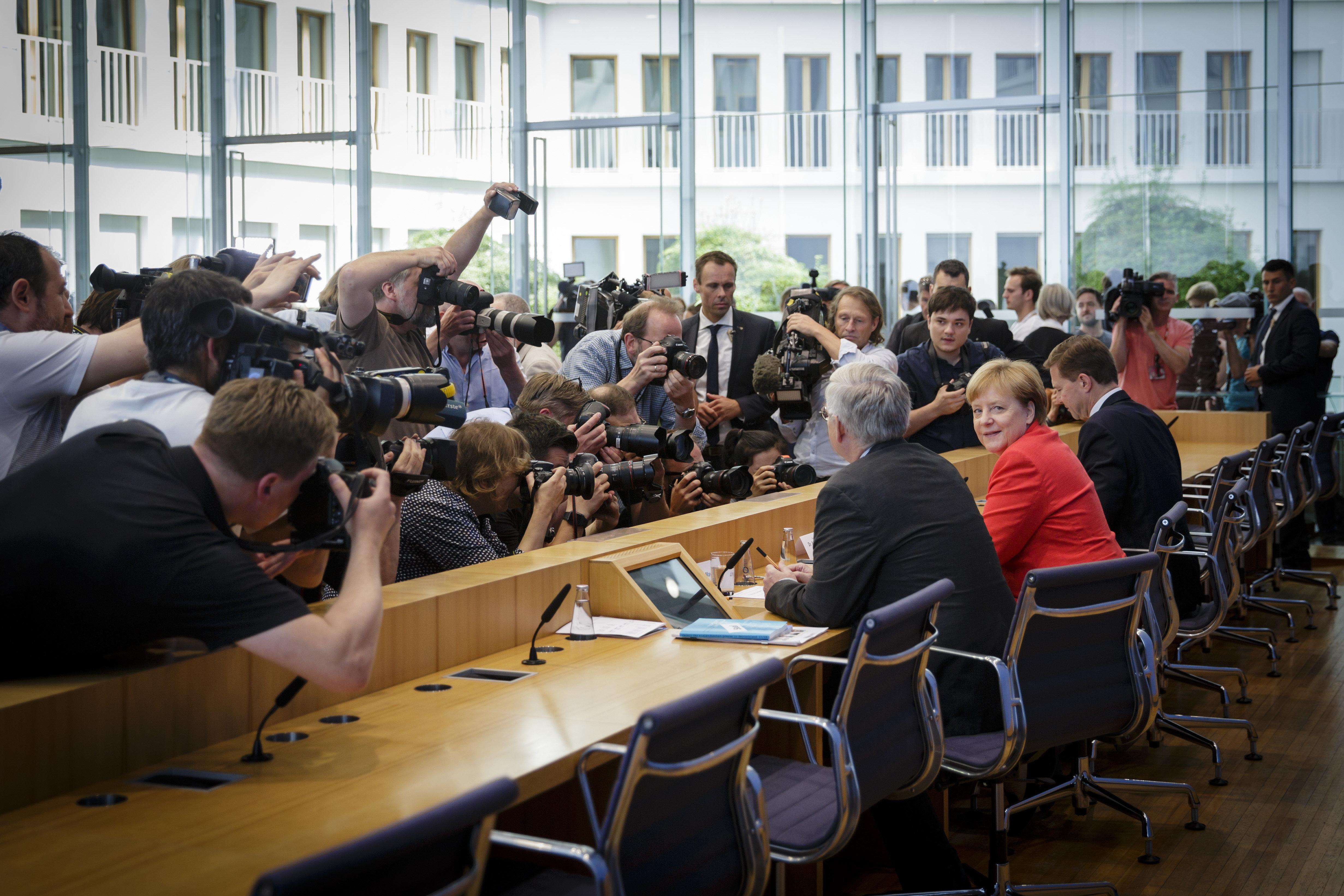 90 Minuten sprach Merkel zur Presse – im Ausland blieb vor allem ein Satz