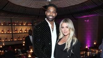 LOS ANGELES, CA - FEBRUARY 17:  Tristan Thompson and Khloe Kardashian attend the Klutch Sports Group 'More Than A Game' Dinner Presented by Remy Martin at Beauty & Essex on February 17, 2018 in Los Angeles, California.  (Photo by Jerritt Clark/Getty Images for Klutch Sports Group)