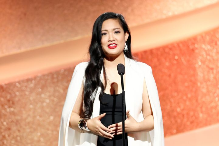 Nguyen speaking during the Marie Claire Young Women's Honors on Nov. 19, 2016, in Marina del Rey, California.