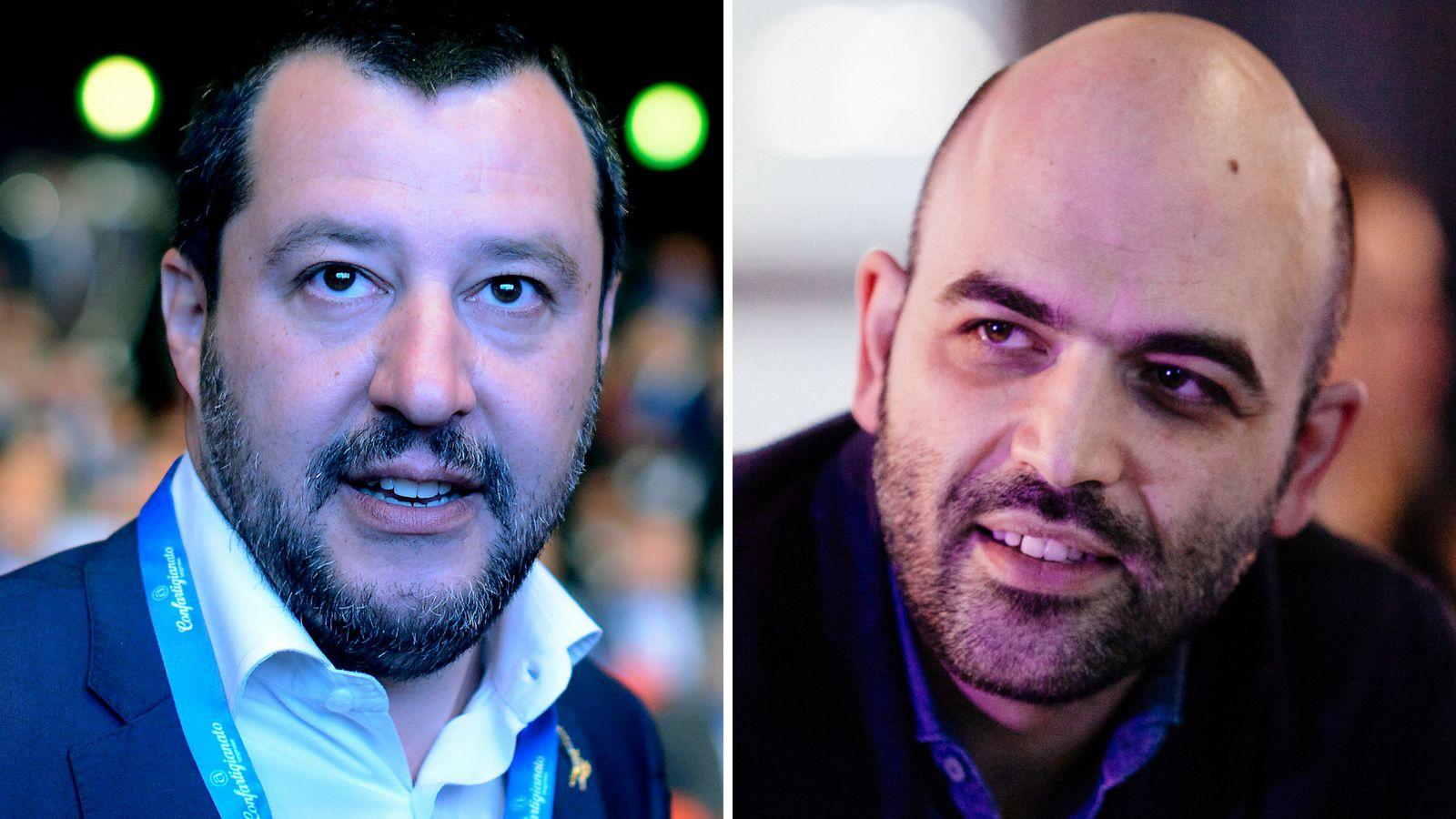 Mafia-Experte Saviano liefert sich Kleinkrieg mit Salvini – nun schlägt der Innenminister