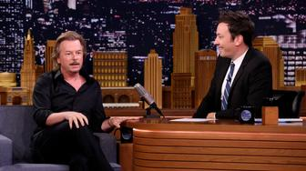 THE TONIGHT SHOW STARRING JIMMY FALLON -- Episode 0897 -- Pictured: (l-r) Comedian David Spade during an interview with host Jimmy Fallon on July 17, 2018 -- (Photo by: Andrew Lipovsky/NBC/NBCU Photo Bank via Getty Images)